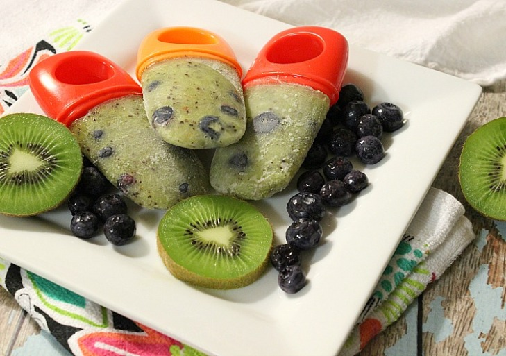 Kiwi Blueberry Popsicles