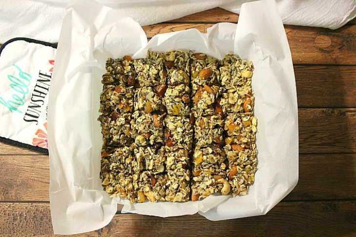 Apricot Peach Honey Granola Bars