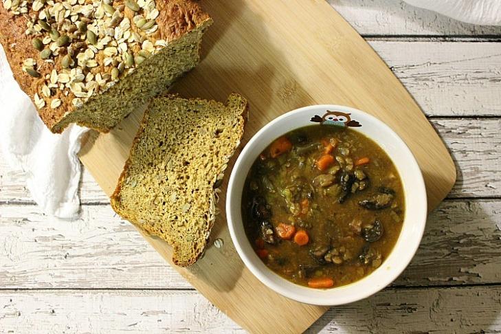Vegan Beef Barley Soup